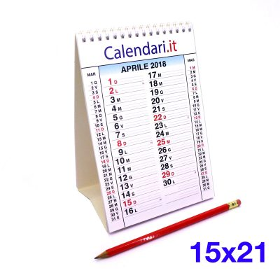 2018 calendario tavolo 15 x 21 per casa lavoro ufficio con 12 mesi e spirale metallica