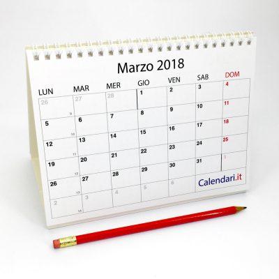 calendario 2018 tabellare da tavolo