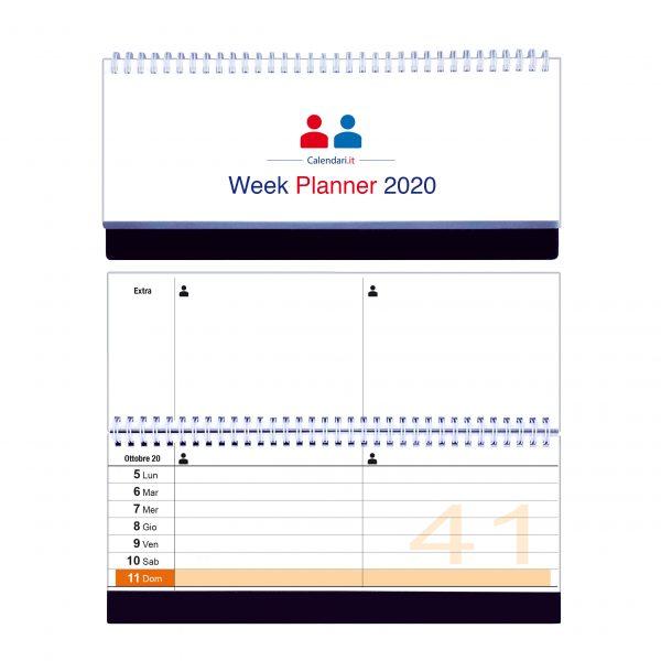 calendario 2020 famiglia tavolo 2 colonne