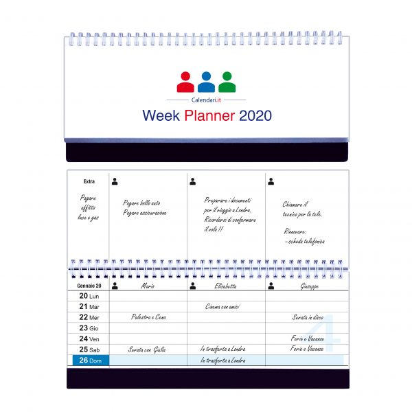 calendario 2020 famiglia tavolo a colonne