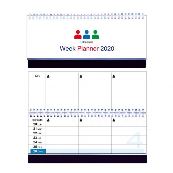 calendario 2020 famiglia tavolo 3 colonne