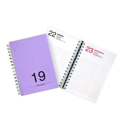 agenda-giornaliera-2019-365-giorni-lilla