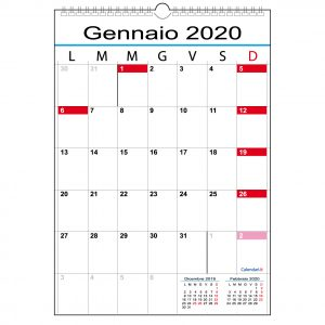 Calendario 2020 Con Festivita Da Stampare.Calendari It 2020 Calendario Planner Agende Family