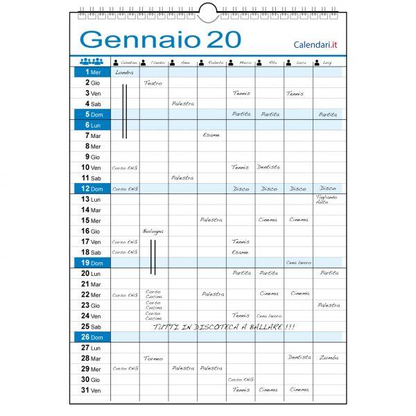 Calendario 2020 famiglia casa lavoro ufficio appuntamenti