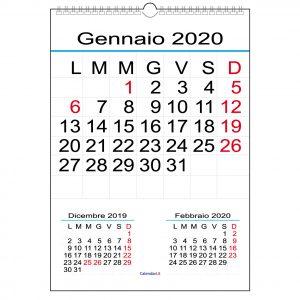 Calendario Solo Numeri.Calendario Classico Archives Calendari It Calendari