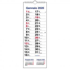 calendario 2020 da muro stretto con santi e lune