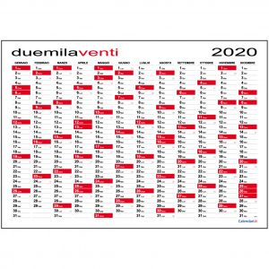 Calendario Annuale 2020 Italiano.Calendari It 2020 Calendario Planner Agende Family