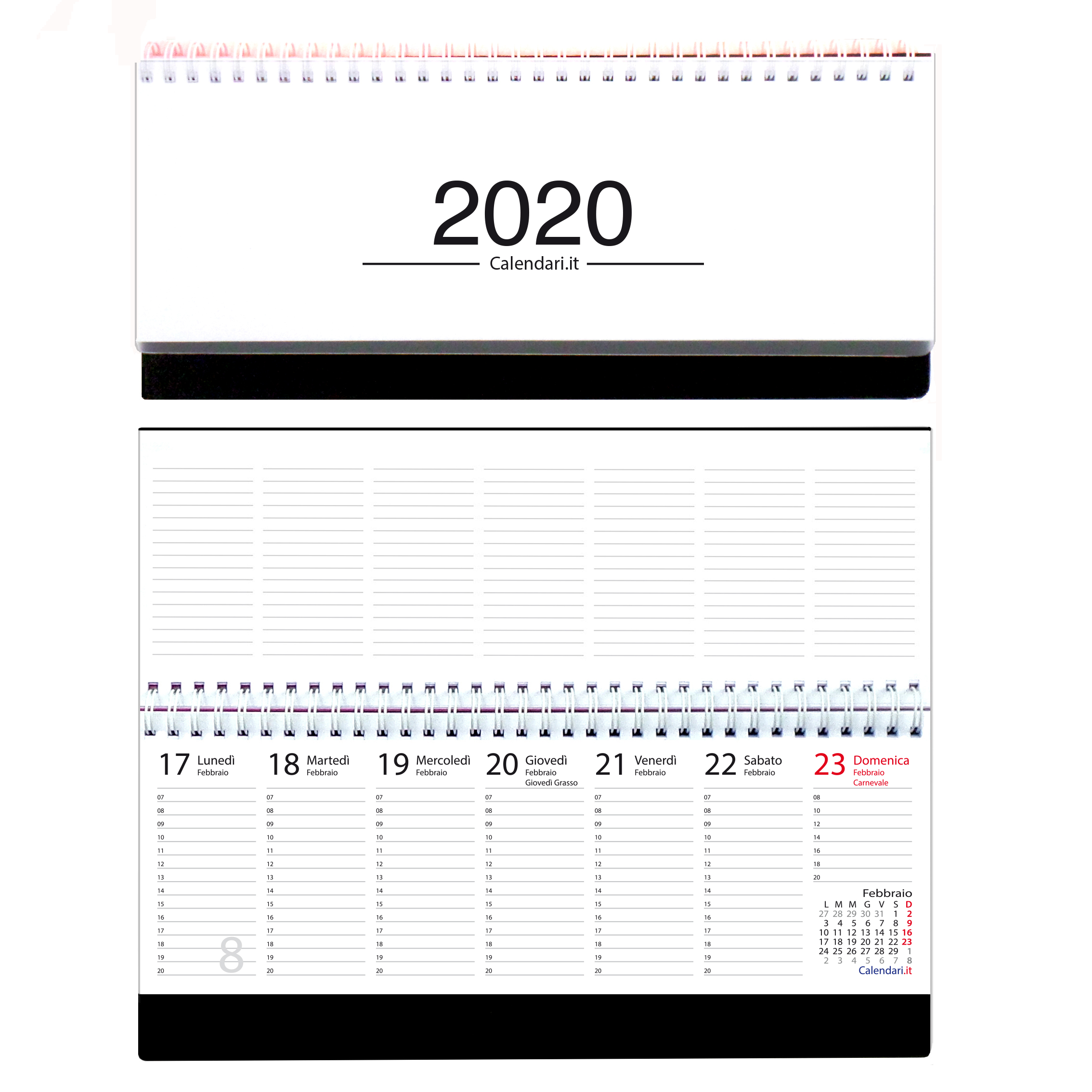 Calendario Da Scrivania 2020.Agenda 2020 Settimanale Planning Da Ufficio 30x13 Bianco