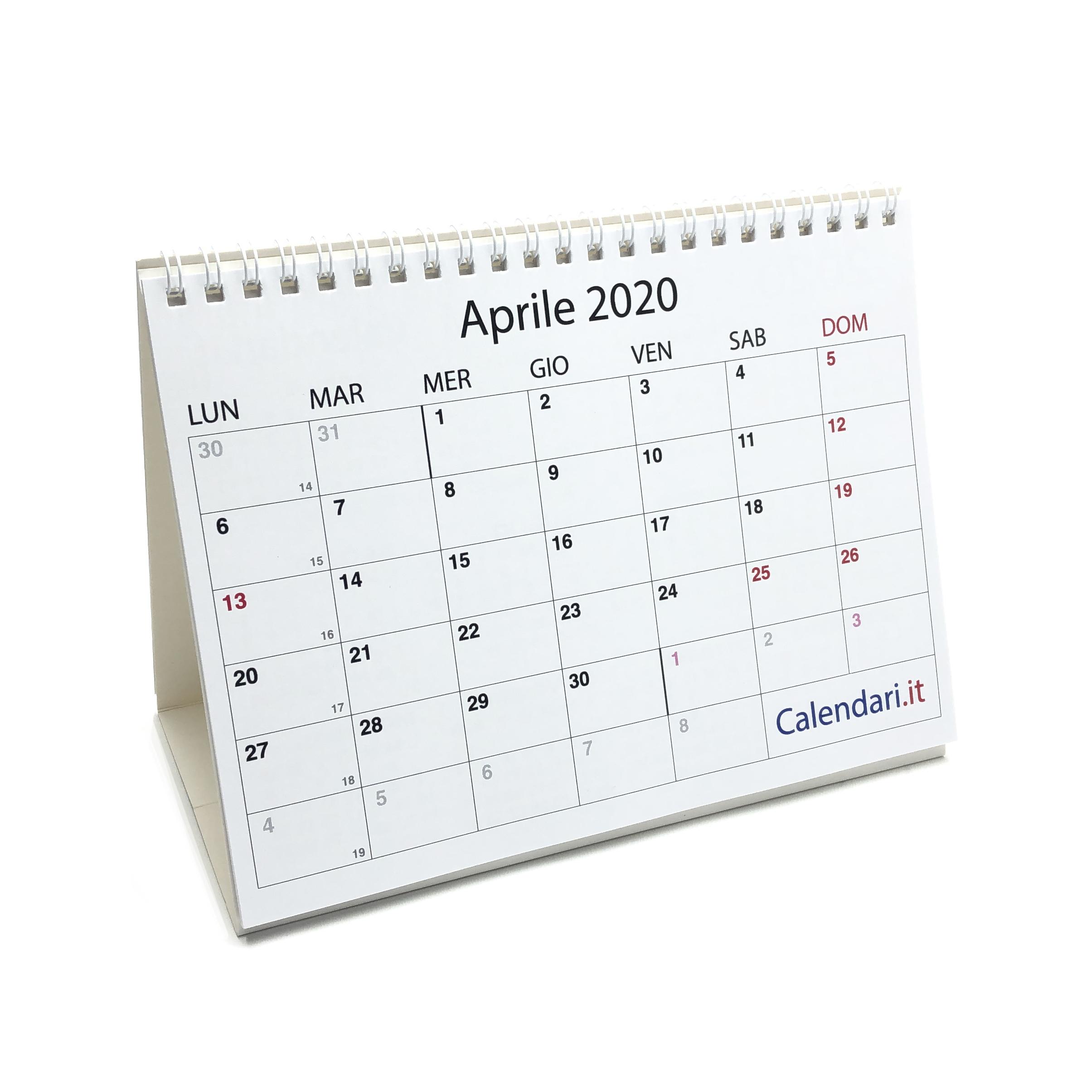 Calendario Da Scrivania 2020.Calendario 2020 Tavolo A Caselle 20 15 Cm