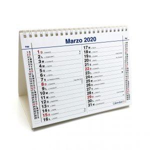 calendario 2020 da tavolo con santi e lune