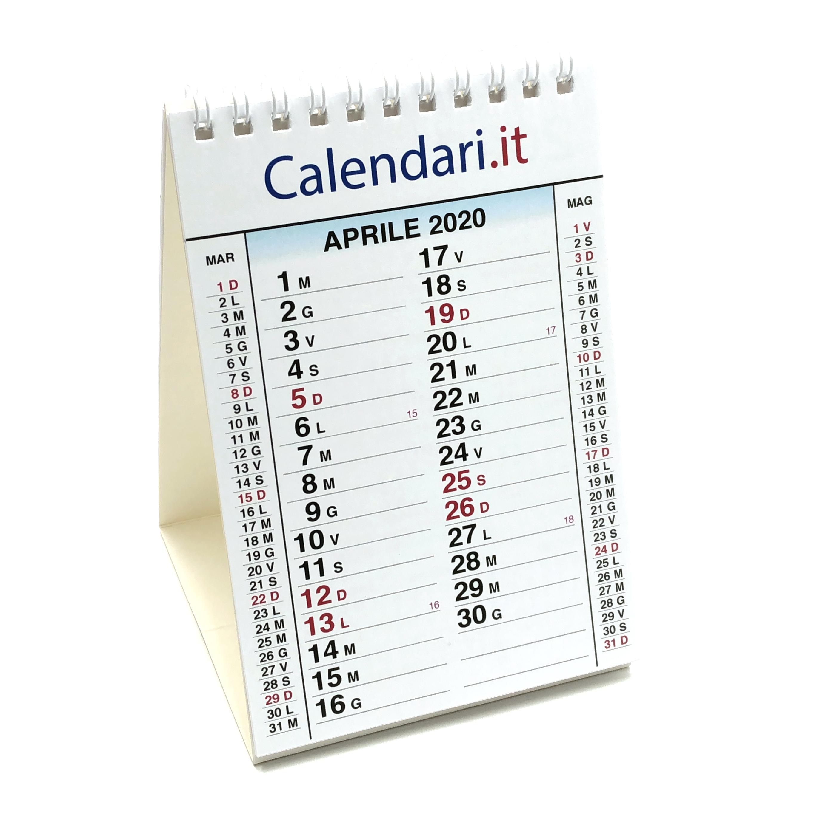 Calendario 2020 Da Tavolo.Calendario 2020 Tavolo A 3 Mesi A Piramide 10x15 Cm