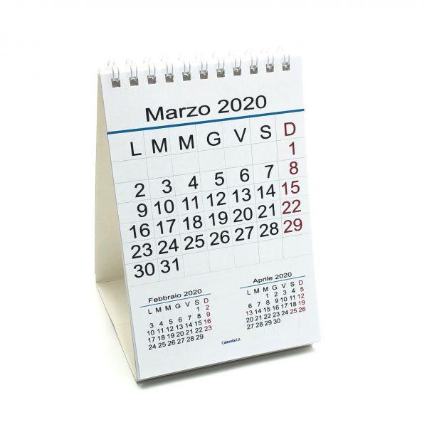 calendario 2020 tavolo numeri grandi
