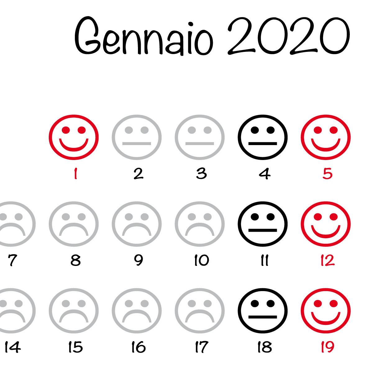 Feste Calendario 2020.Calendario 2020 Smile