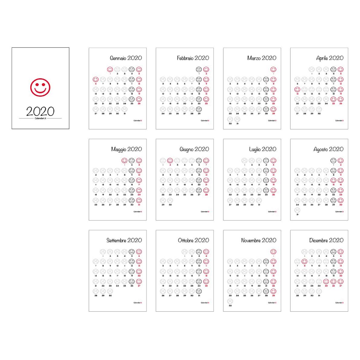 Calendario Agosto 2020 Con Santi.Calendario 2020 Smile