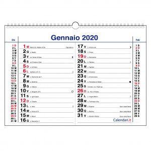 calendario 2020 orizzontale