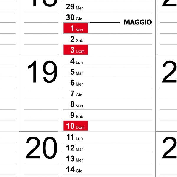 Calendario 2020 WEEK planner settimanale