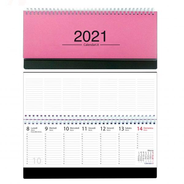 agenda 2021 settimanale da tavolo orizzontale ufficio appunti scrivania tavolo lavoro calendario 2021 fuxia