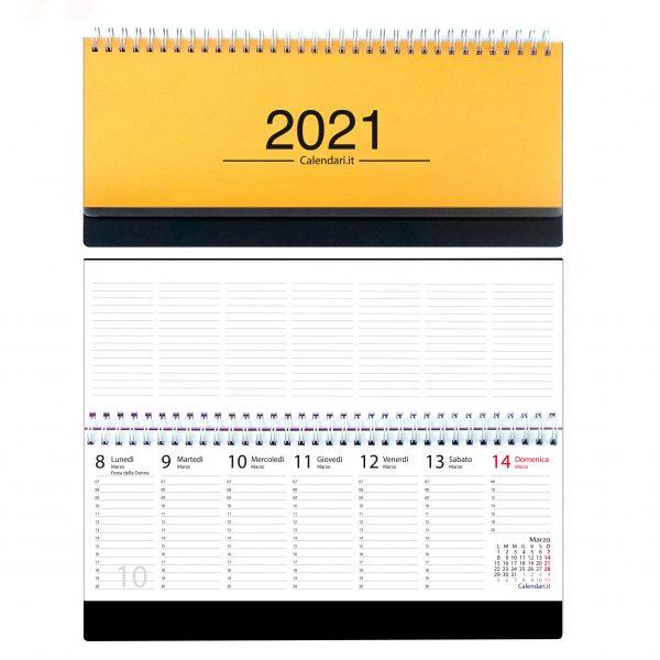 agenda 2021 settimanale da tavolo orizzontale ufficio appunti scrivania tavolo lavoro calendario 2021 arancio chiaro