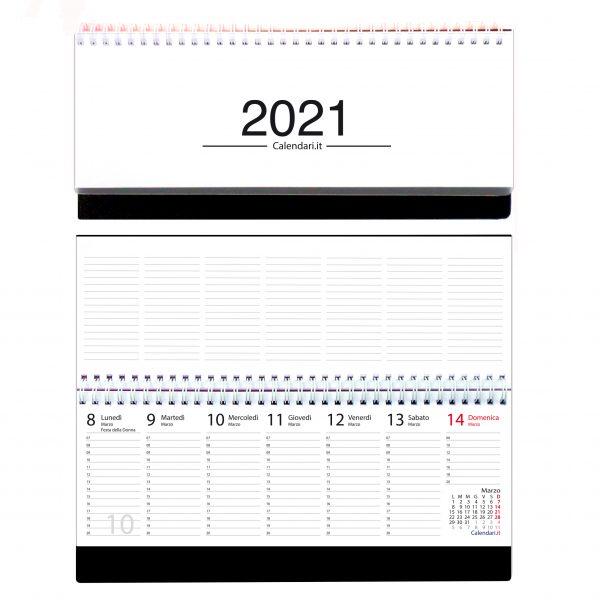 agenda 2021 settimanale da tavolo orizzontale ufficio appunti scrivania tavolo lavoro calendario 2021 bianco