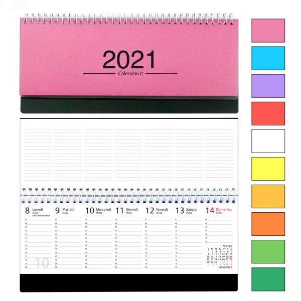 agenda 2021 settimanale da tavolo orizzontale ufficio appunti scrivania tavolo lavoro calendario 2021 colori copertina