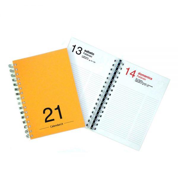 agenda giornaliera 2021 spirale 365 giorni verticale ufficio casa lavoro calendario 2021 arancio scuro