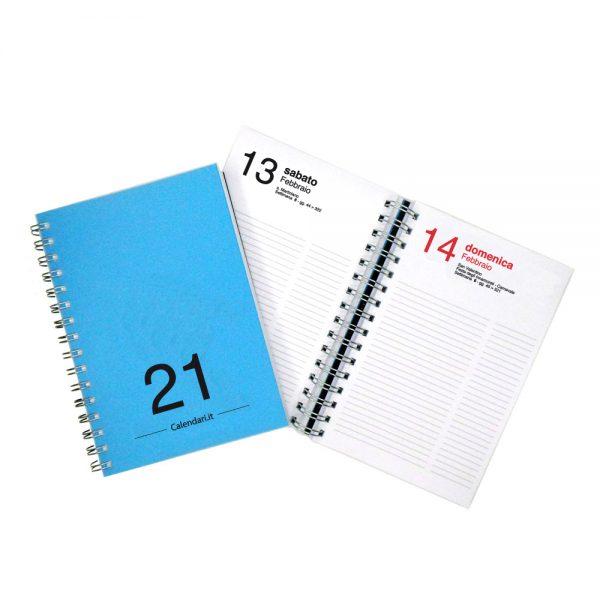 agenda giornaliera 2021 spirale 365 giorni verticale ufficio casa lavoro calendario 2021 azzurro