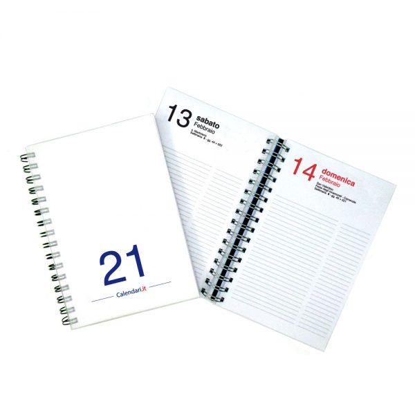 agenda giornaliera 2021 spirale 365 giorni verticale ufficio casa lavoro calendario 2021 bianca