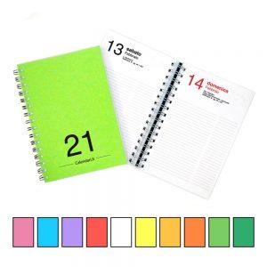 agenda giornaliera 2021 spirale 365 giorni verticale ufficio casa lavoro calendario 2021 tutti colori