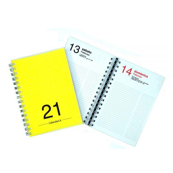 agenda giornaliera 2021 spirale 365 giorni verticale ufficio casa lavoro calendario 2021 giallo