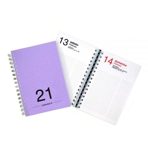agenda giornaliera 2021 spirale 365 giorni verticale ufficio casa lavoro calendario 2021 lilla