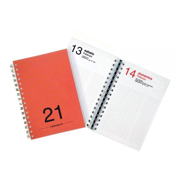 agenda giornaliera 2021 spirale 365 giorni verticale ufficio casa lavoro calendario 2021 rosso