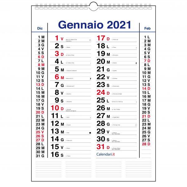 calendario 2021 olandese da muro classico 3 mesi da parete con santi lune settimane per scrivere appunti