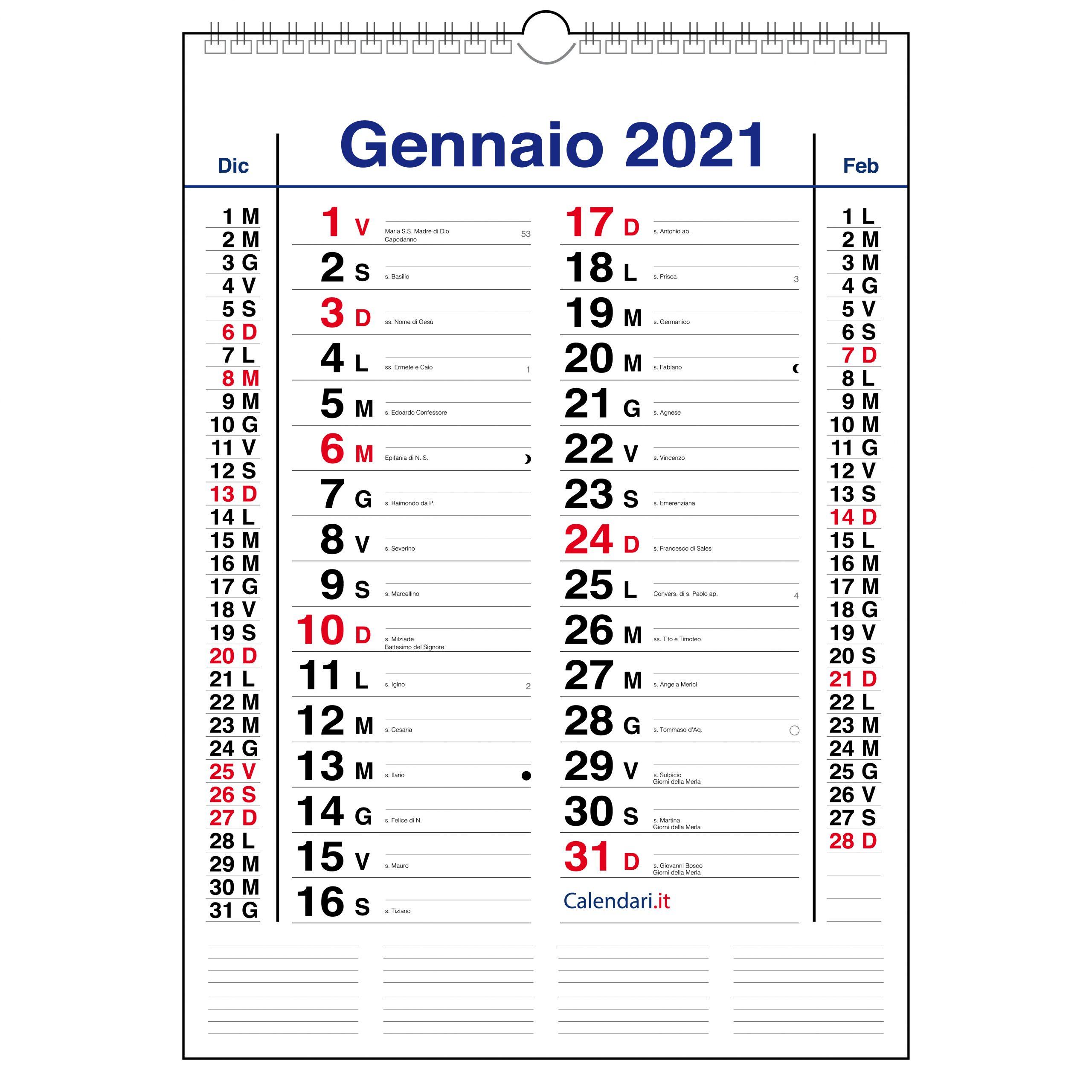 Calendario Numeri Settimane 2021 Calendario 2021 olandese da muro mensile con santi, lune e settimane