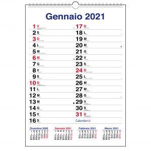 calendario 2021 olandese xl 3 mesi classico spazio appunti da muro parete calendari 2021