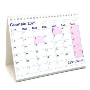 calendario 2021 tavolo scrivania caselle appunti ufficio lavoro