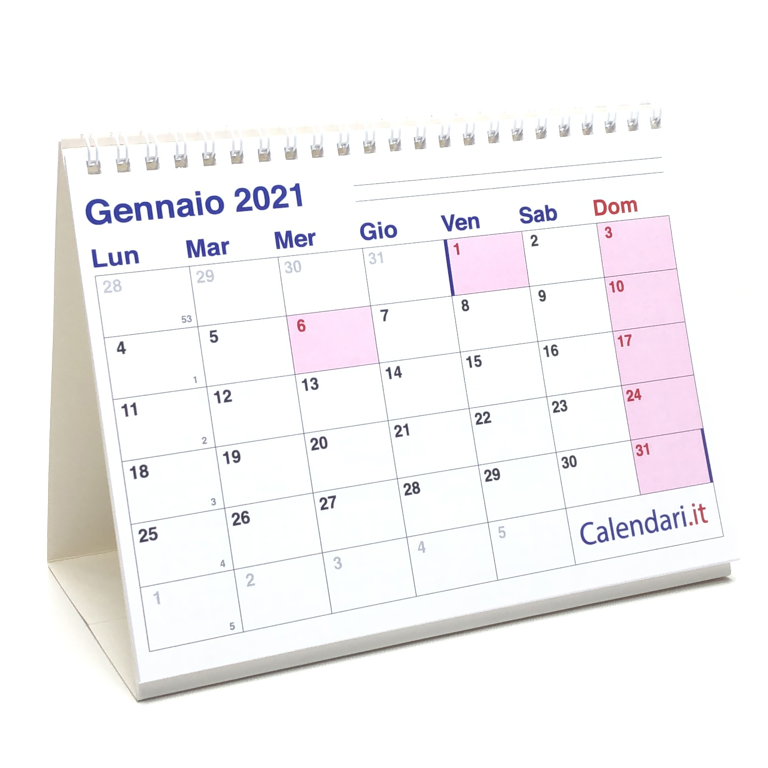 Calendario 2021 tavolo a caselle 20x15 cm   Calendari.it