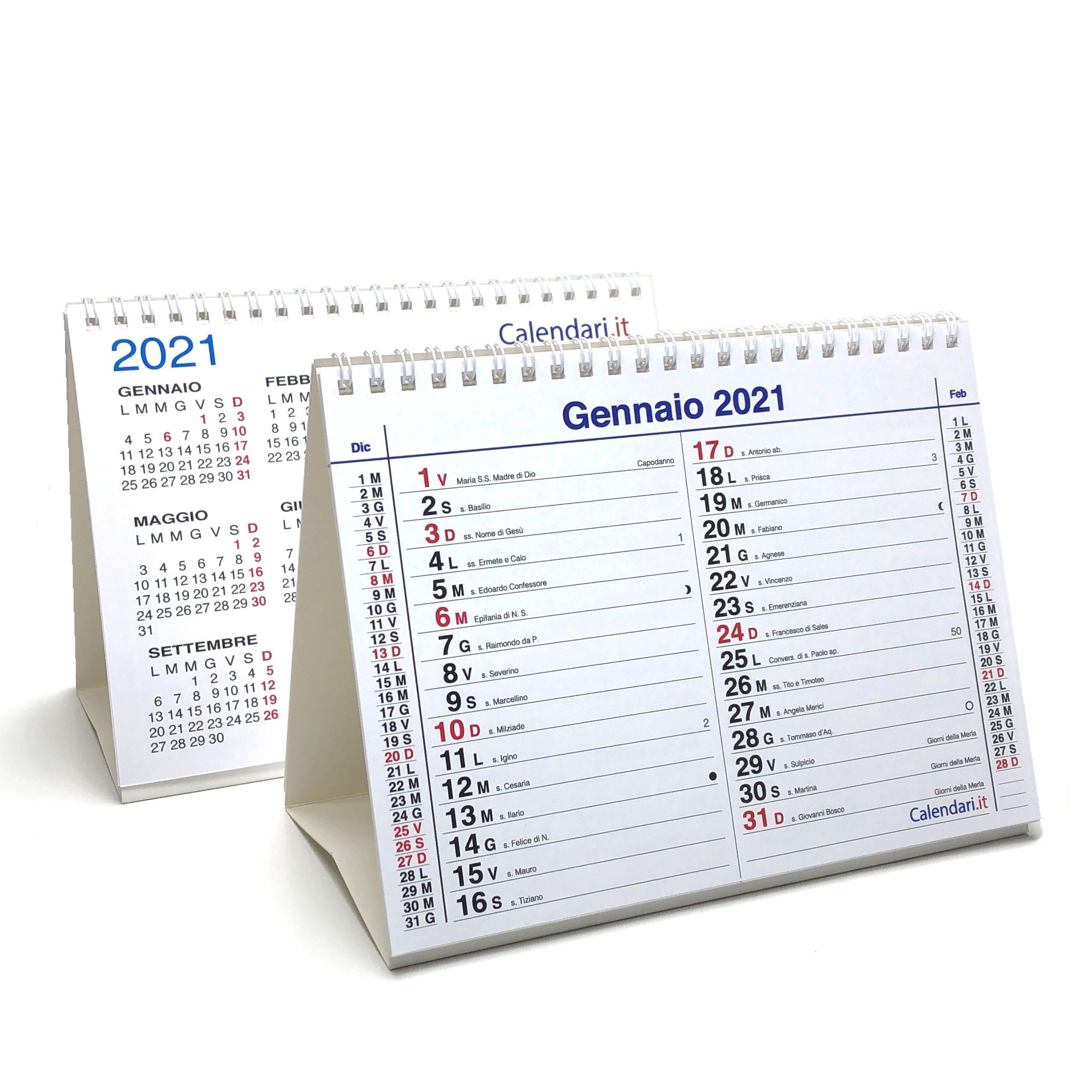 Calendario 2021 tavolo olandese santi e lune 20x15 cm   Calendari