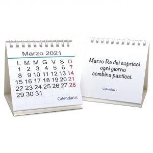 calendario 2021 aforismi piccolo scrivania tavolo ufficio regalo natale
