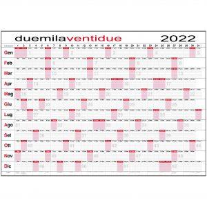 calendario planner 2022 caselle maxi 118x84 cm ufficio casa lavoro giornaliero