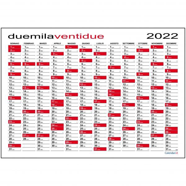 calendario 2022 planner maxi muro parete ufficio annuale 12 mesi muro