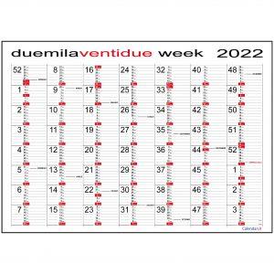 calendario 2022 week planner annuale planning settimanale fiscale scadenze muro