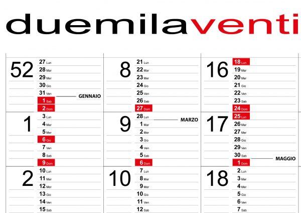 calendario 2022 week planner annuale planning settimanale fiscale scadenze muro 22