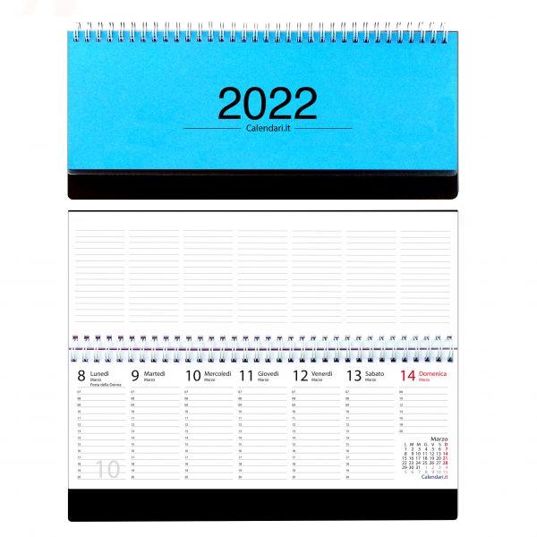 agenda 2022 settimanale da tavolo scrivania spirale ufficio azzurro