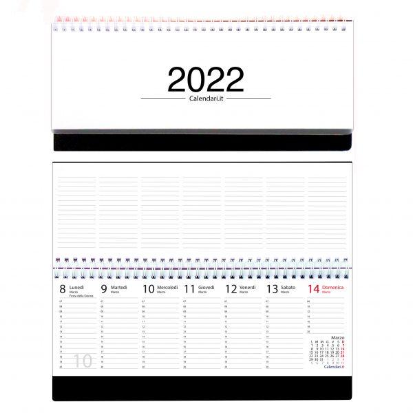 agenda 2022 settimanale da tavolo scrivania spirale ufficio bianca