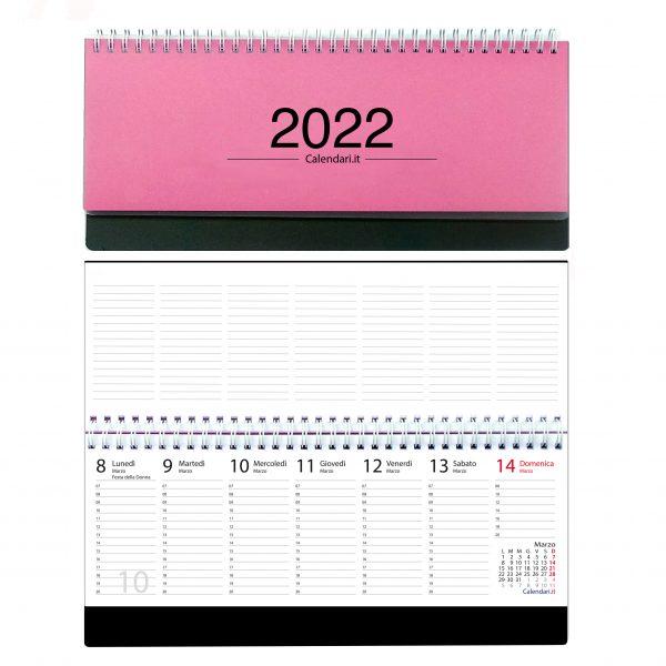agenda 2022 settimanale da tavolo scrivania spirale ufficio fuxia