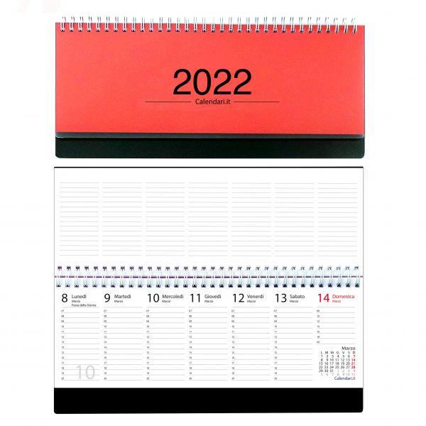 agenda 2022 settimanale da tavolo scrivania spirale ufficio rossa