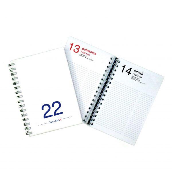 agenda giornaliera 2022 365 giorni bianca