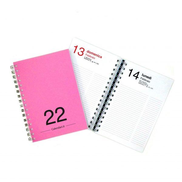 agenda giornaliera 2022 365 giorni fuxia
