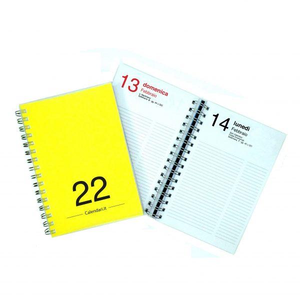 agenda giornaliera 2022 365 giorni gialla
