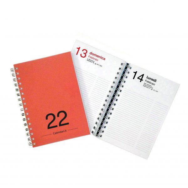 agenda giornaliera 2022 365 giorni rossa